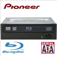 PIONEER BDR-203BKS 8X BLU-RAY /DVD WRITER SATA WITH SW