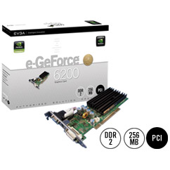 EVGA E-GEFORCE 6200 256M DDR2 PCI VIDEO CARD
