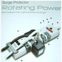 SURGEXPERT SURGE PROTECTOR ROTATING POWER 10 OUTLETS 2 PHONE LIN