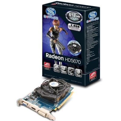ATI SAPPHIRE HD 5670 PCI-E 1G DDR5 HDMI 7.1 SOUND VIDEO CARD