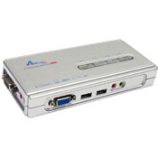 AIRLINK 4 PORT USB KVM SWITCH WITH AUDIO AKVM-U42
