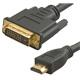 HDMI TO DVI HDTV CABLE 06FT S-LINK MALE TO MALE