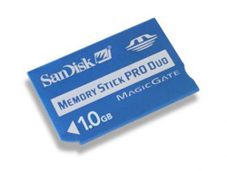 SANDISK 8G PRO DUO MEMORY STICK PSP READY LIFETIME WARRANTY