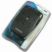 VAKOSS 6 PORTS OUTLETS SURGE PROTECTOR 55-613-BK